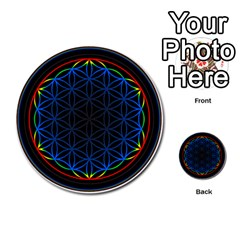 Flower Of Life Multi-purpose Cards (Round)  by Zeze