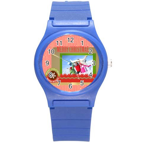 Xmas Merry Christmas By 2016   Round Plastic Sport Watch (s)   Cbjms4nsitdg   Www Artscow Com Front