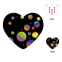 Colorful Galaxy Playing Cards (heart)  by Valentinaart