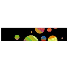 Colorful Galaxy Flano Scarf (small) by Valentinaart