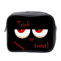Halloween  trick Or Treat    Monsters Red Eyes Mini Toiletries Bag 2 Side by Valentinaart