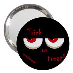 Halloween  trick Or Treat    Monsters Red Eyes 3  Handbag Mirrors by Valentinaart