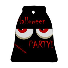 Halloween Party   Red Eyes Monster Bell Ornament (2 Sides) by Valentinaart