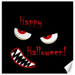 Happy Halloween   Red Eyes Monster Canvas 16  X 16   by Valentinaart