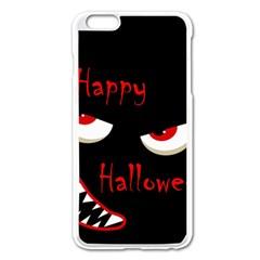 Happy Halloween   Red Eyes Monster Apple Iphone 6 Plus/6s Plus Enamel White Case by Valentinaart