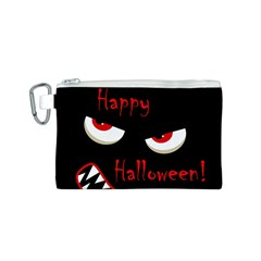 Happy Halloween   Red Eyes Monster Canvas Cosmetic Bag (s) by Valentinaart