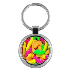 Neon Patterns Key Chains (round)  by AnjaniArt