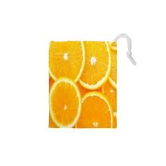Orange Fruit Drawstring Pouches (xs)  by AnjaniArt