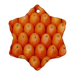 Orange Fruits Snowflake Ornament (2 Side) by AnjaniArt