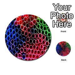 Pexels Pink Green Pipe Jpeg Multi Purpose Cards (round)  by AnjaniArt