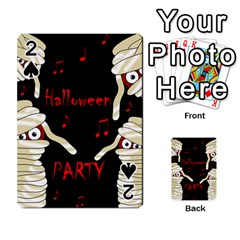 Halloween mummy party Playing Cards 54 Designs  by Valentinaart