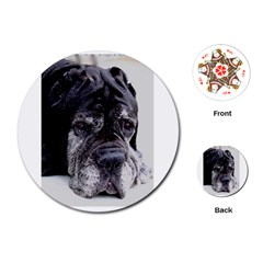 Neapolitan Mastiff Playing Cards (Round)  by TailWags