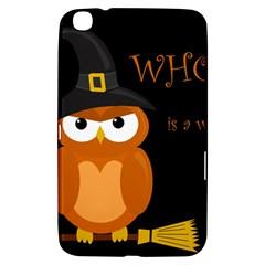 Halloween Witch   Orange Owl Samsung Galaxy Tab 3 (8 ) T3100 Hardshell Case  by Valentinaart