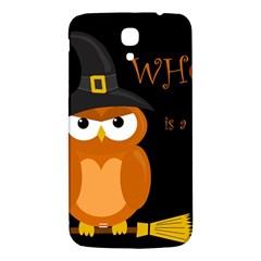 Halloween witch - orange owl Samsung Galaxy Mega I9200 Hardshell Back Case by Valentinaart