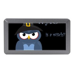 Halloween witch - blue owl Memory Card Reader (Mini) by Valentinaart