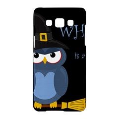 Halloween Witch   Blue Owl Samsung Galaxy A5 Hardshell Case  by Valentinaart