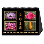 Jane Black and Gold Desktop Calendar (8.5x6) - Desktop Calendar 8.5  x 6