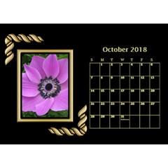 Jane Black And Gold Desktop Calendar (8 5x6) By Deborah   Desktop Calendar 8 5  X 6    Rab6u7z60bsz   Www Artscow Com Oct 2018