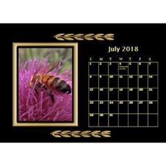 Jane Black And Gold Desktop Calendar (8 5x6) By Deborah   Desktop Calendar 8 5  X 6    Rab6u7z60bsz   Www Artscow Com Jul 2018