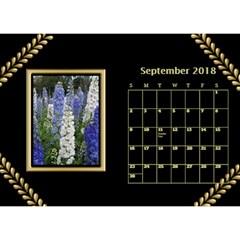 Jane Black And Gold Desktop Calendar (8 5x6) By Deborah   Desktop Calendar 8 5  X 6    Rab6u7z60bsz   Www Artscow Com Sep 2018