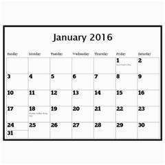 Janet Wall Calendar 11x8 5 2016 By Deborah   Wall Calendar 11  X 8 5  (12 Months)   O4x9wridubtq   Www Artscow Com Jan 2016