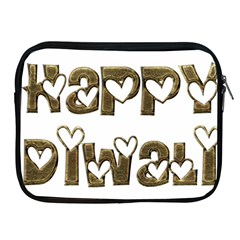 Happy Diwali Greeting Cute Hearts Typography Festival Of Lights Celebration Apple Ipad 2/3/4 Zipper Cases by yoursparklingshop