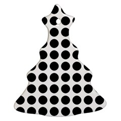Pattern Dots Grid Circle Creative Christmas Tree Ornament (2 Sides) by Zeze