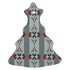 Pattern Retro Halloween Design Christmas Tree Ornament (2 Sides) by Zeze