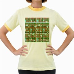 Textile Design Women s Fitted Ringer T-Shirts by Zeze