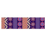 Colorful Winter Pattern Satin Scarf (Oblong)