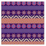 Colorful Winter Pattern Large Satin Scarf (Square)