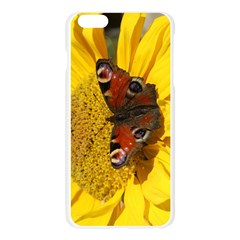 Yellow Butterfly Insect Closeup Apple Seamless iPhone 6 Plus/6S Plus Case (Transparent) by Zeze