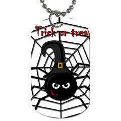 Halloween Cute Spider Dog Tag (two Sides) by Valentinaart