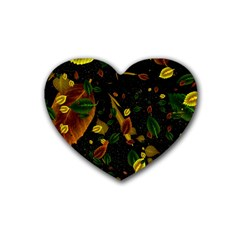 Autumn 03 Heart Coaster (4 Pack)  by MoreColorsinLife
