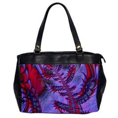 Freaky Friday Red  Lilac Office Handbags by Fractalworld