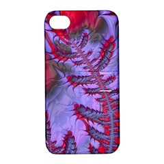 Freaky Friday Red  Lilac Apple Iphone 4/4s Hardshell Case With Stand by Fractalworld
