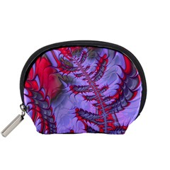 Freaky Friday Red  Lilac Accessory Pouches (small)  by Fractalworld