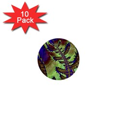 Freaky Friday, Blue Green 1  Mini Buttons (10 Pack)  by Fractalworld