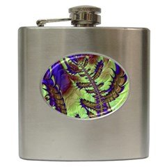 Freaky Friday, Blue Green Hip Flask (6 Oz) by Fractalworld