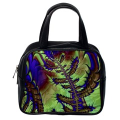 Freaky Friday, Blue Green Classic Handbags (one Side) by Fractalworld