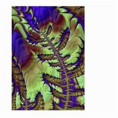 Freaky Friday, Blue Green Large Garden Flag (two Sides) by Fractalworld