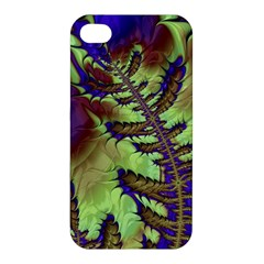 Freaky Friday, Blue Green Apple Iphone 4/4s Premium Hardshell Case by Fractalworld
