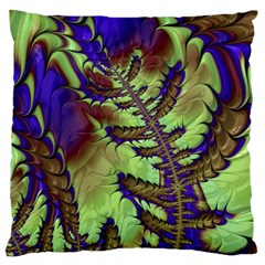Freaky Friday, Blue Green Standard Flano Cushion Case (one Side) by Fractalworld