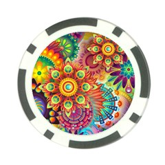 Colorful Abstract Background Poker Chip Card Guards (10 pack)  by Zeze