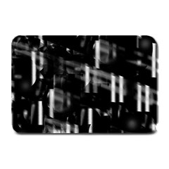 Black And White Neon City Plate Mats by Valentinaart
