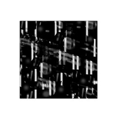 Black And White Neon City Satin Bandana Scarf by Valentinaart