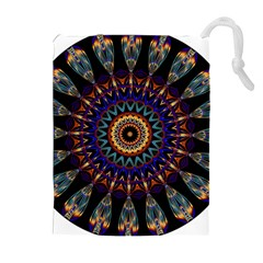 Colorful Prismatic Chromatic Drawstring Pouches (Extra Large) by Zeze
