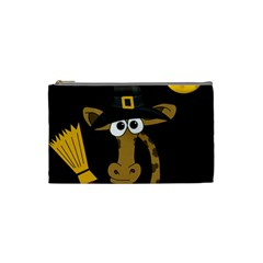 Halloween Giraffe Witch Cosmetic Bag (small)  by Valentinaart