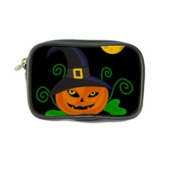 Halloween Witch Pumpkin Coin Purse by Valentinaart