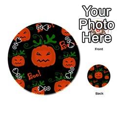 Halloween Pumpkin Pattern Playing Cards 54 (round)  by Valentinaart